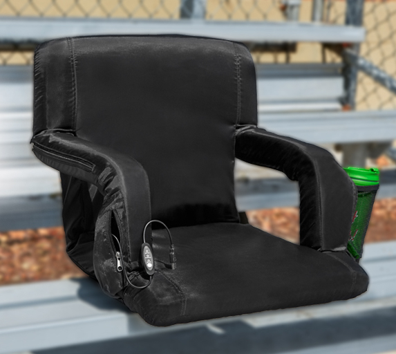 The Hot Seat is the world's first USB-heated Stadium Chair.