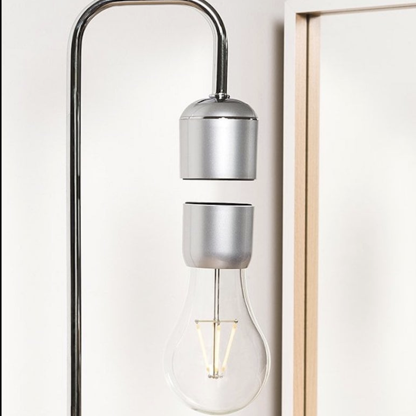 Floating Light Bulb Suspended Desk Lamp