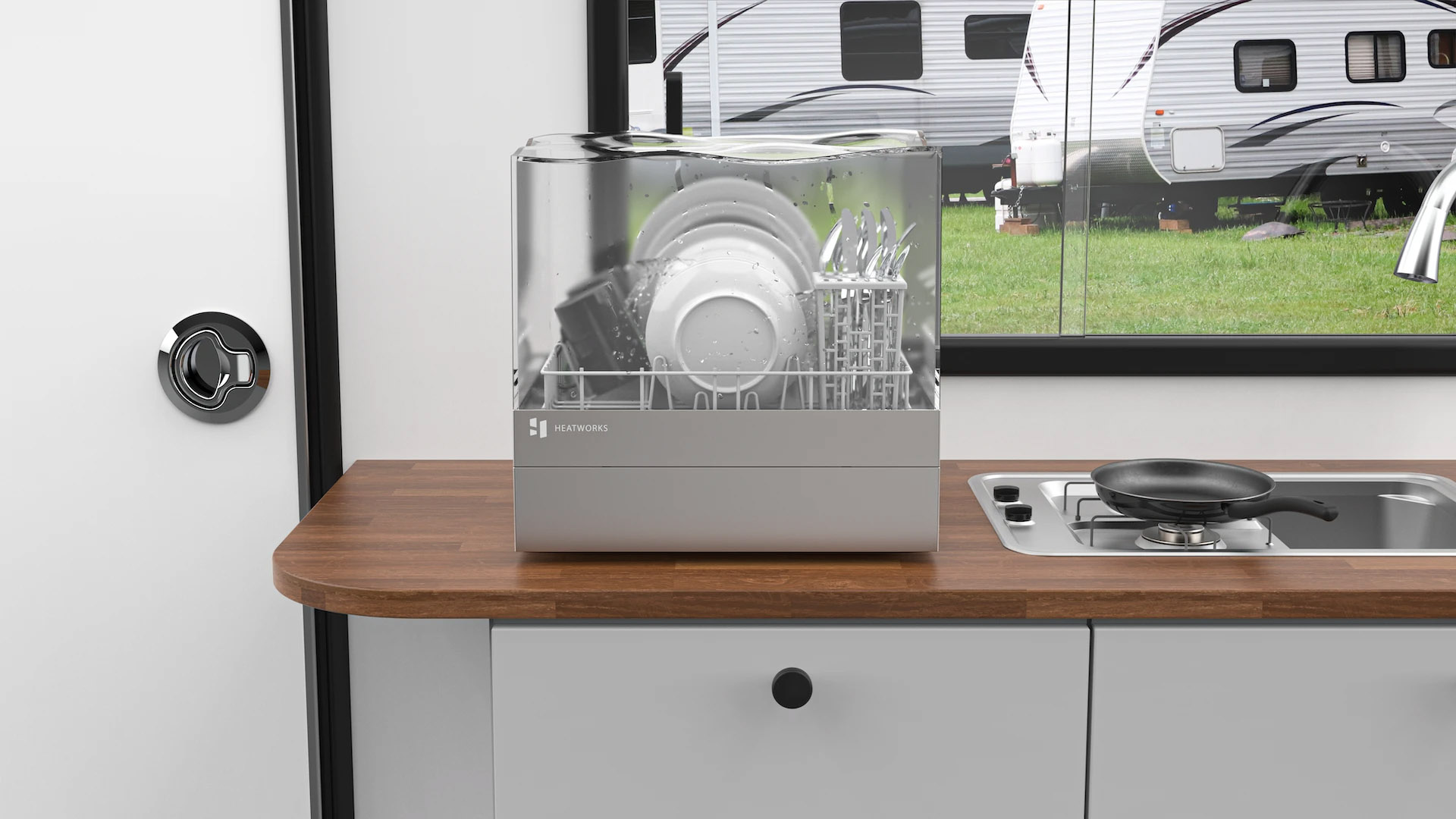 Heatworks Tetra Connected Countertop Dishwasher
